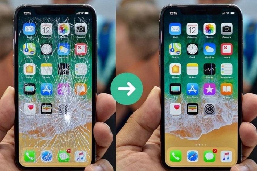 Phân biệt khi nào thay mặt kính khi nào thay màn hình iPhone