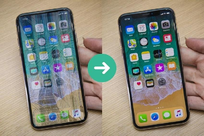 Thay mặt kính/ ép kính iPhone X để có thao tác tốt hơn