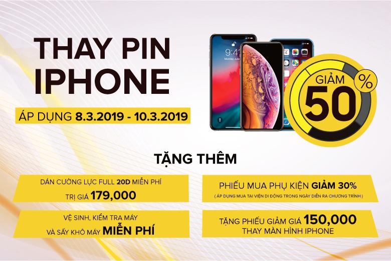 khuyen-mai-thay-pin-iphone-giam-50-viendidong
