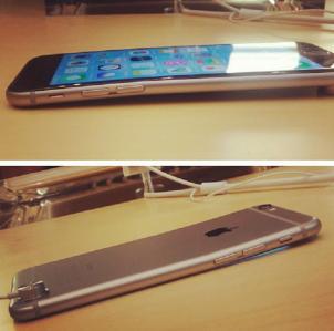 Cả khung sườn bị cong khiến màn hình iPhone 6 bị hở theo