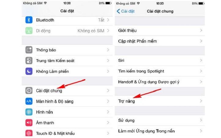 Dùng Trợ Năng thử fix lỗi màn hình iPhone 6 bị phóng to