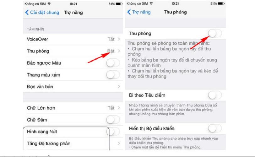 Chỉnh thu phóng fix lỗi màn hình iPhone 6 bị phóng to