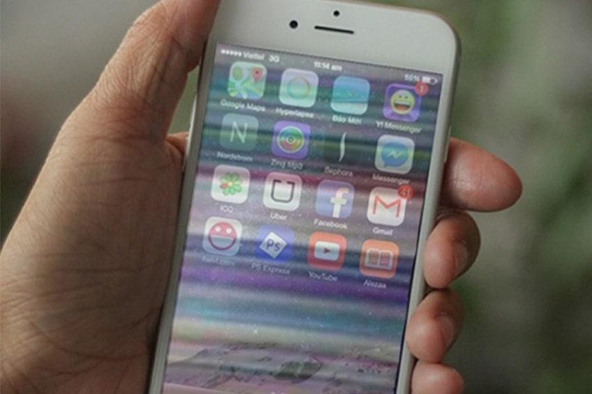 Xung đột các ứng dụng là nguyên nhân làm cho màn hình iPhone 6, 6 Plus bị sọc ngang