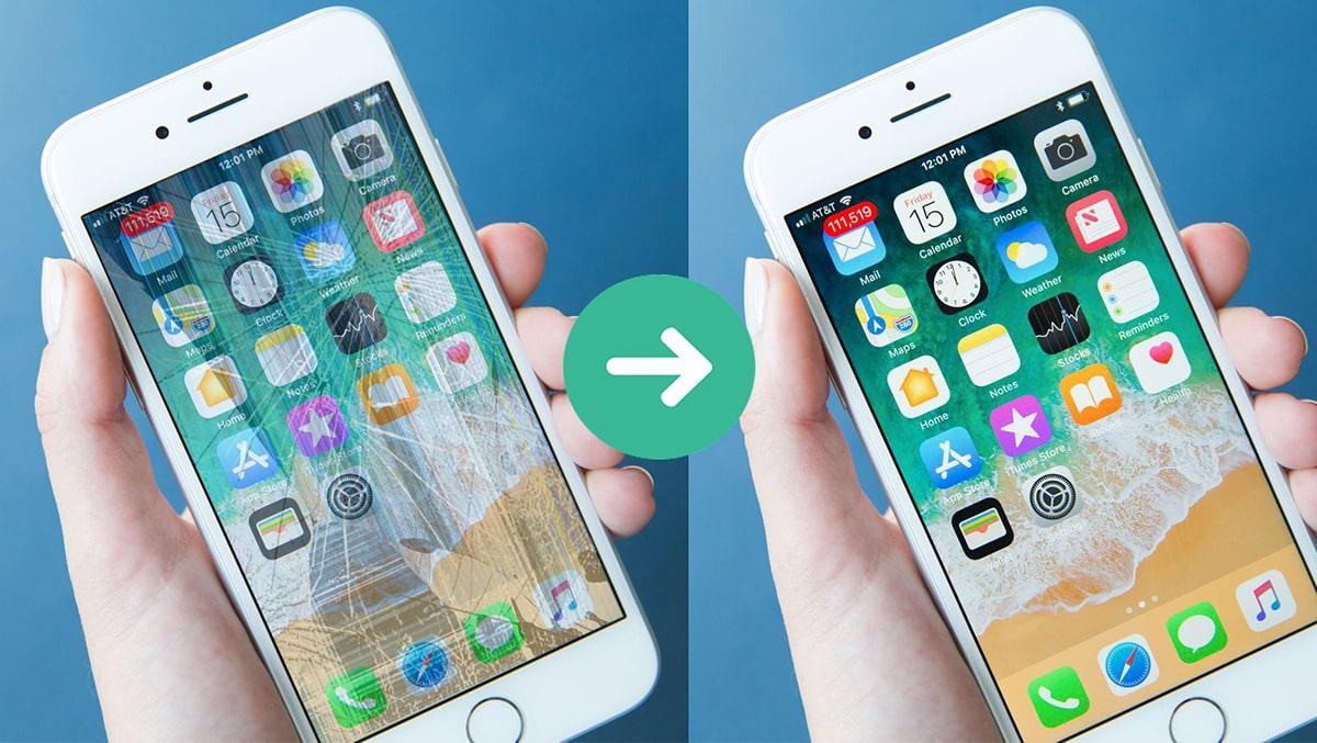 Sửa màn hình iPhone 6, 6 Plus bị sọc ngang
