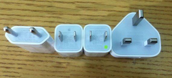 Nhiều kiểu củ sạc iPhone 6 chính hãng thường thấy