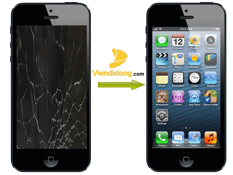 Ép kính iPhone 5 Chính Hãng zin Giá Rẻ