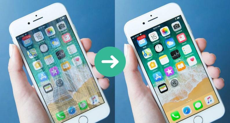 Ép kính iPhone 8 Plus chính hãng