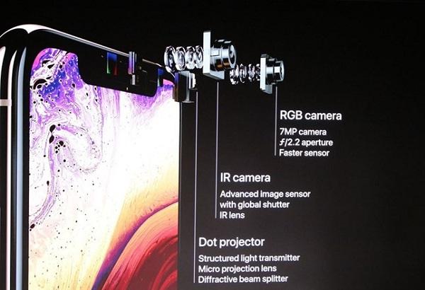 Minh họa thay camera trước iPhone điện thoại Apple