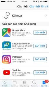 Cập nhật ứng dụng tránh màn hình iPhone 6 bị đơ