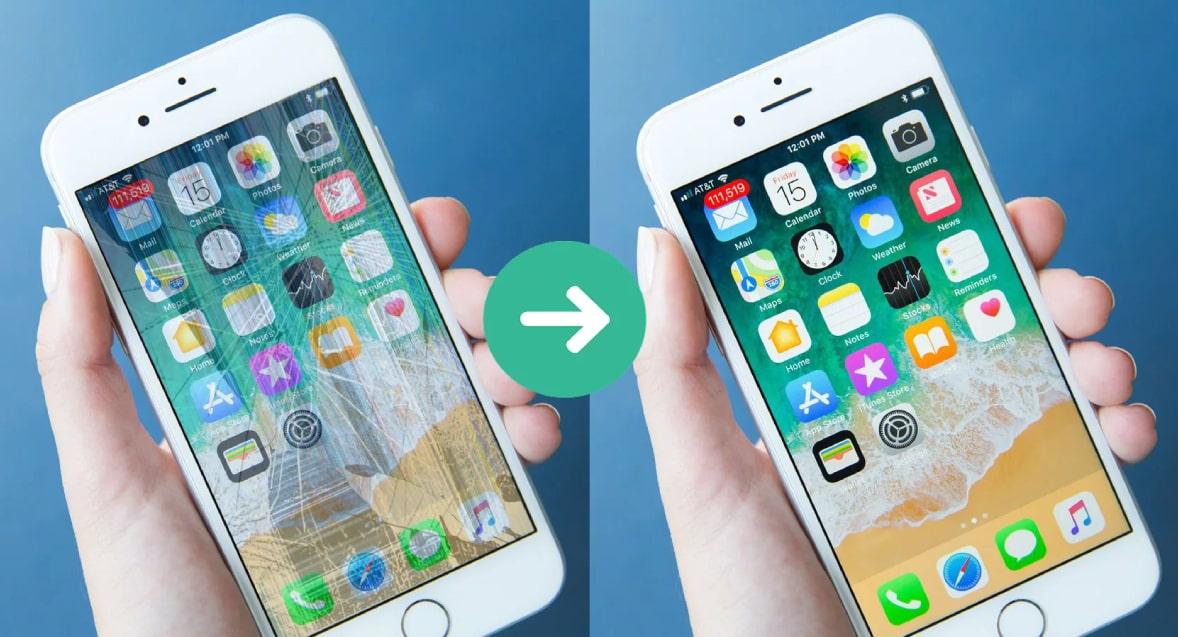 Ép kính iPhone 8 chính hãng zin giá rẻ