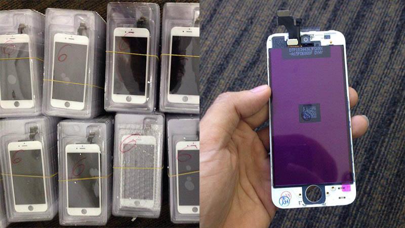 Loạt màn hình iPhone loại hàng lô