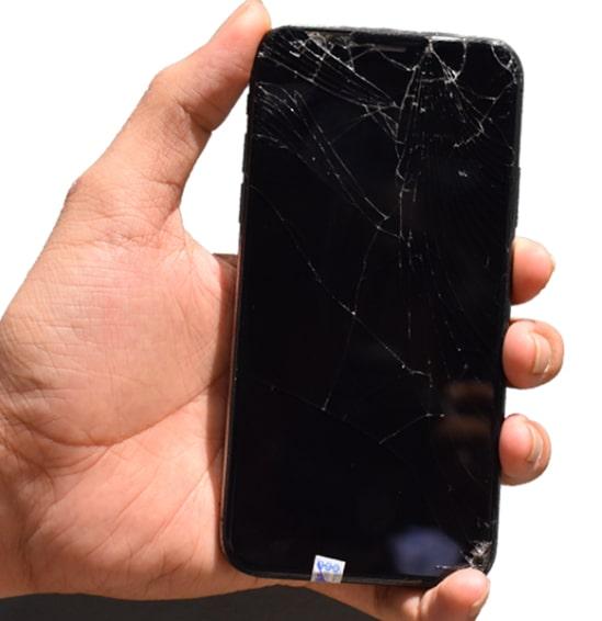 màn hình iPhone XS Max bị vỡ