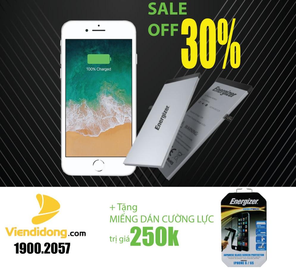 Cực sốc: giảm 30% Thay pin iPhone Energizer