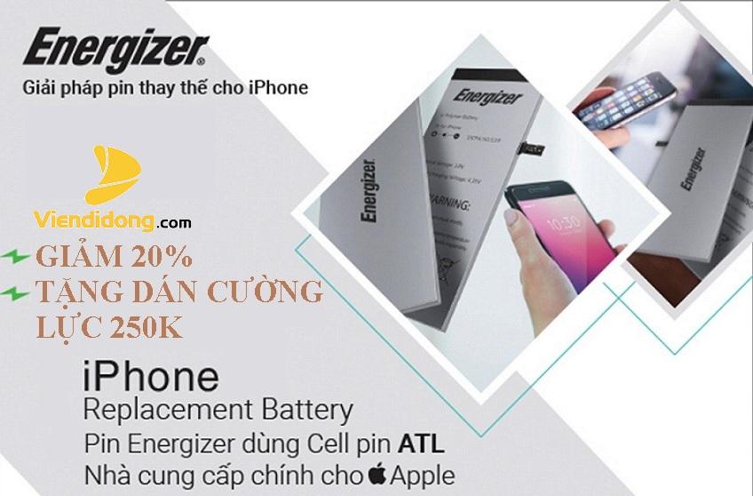 Giảm giá 20% khi Thay Pin Energizer cho iPhone