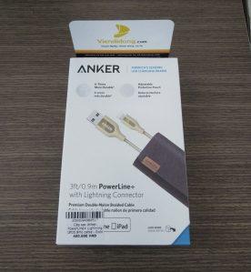 Cáp sạc iPhone Anker Lightning Powerline+ 0.9m