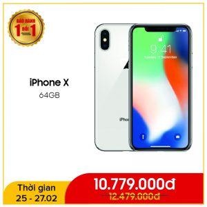 iPhone X 64GB Quốc Tế (Like New)