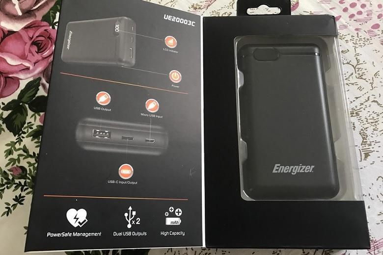Pin sạc dự phòng Energizer 20000mAh UE20003CBK có dung lượng khủng