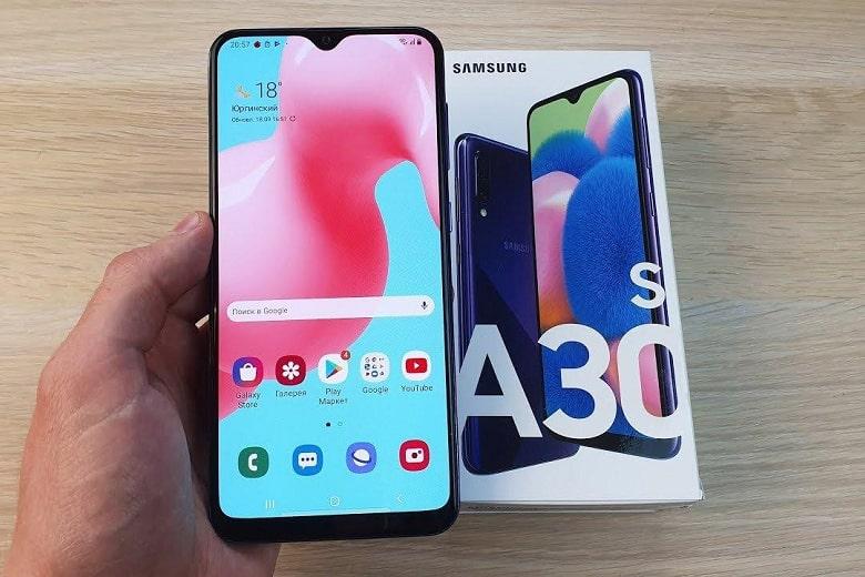 Galaxy A30s có thiết kế hiện đại