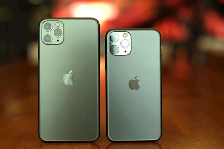 Hai mẫu iPhone 11 Pro và 11 Pro Max màu xanh rêu