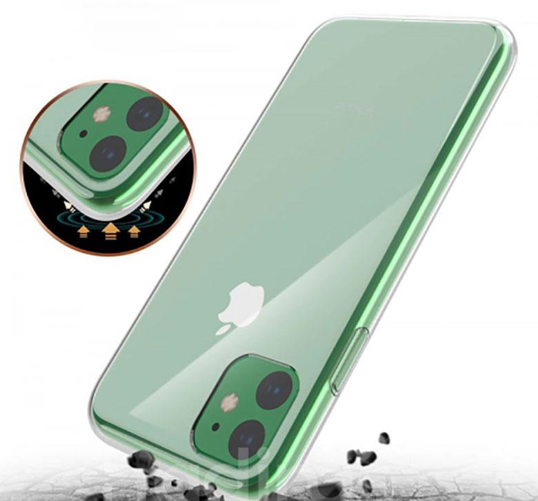 Ốp lưng iPhone 11 có các cạnh có khả năng chống shock, va đập