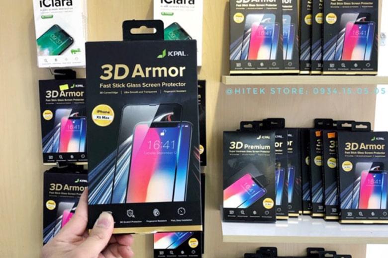 Miếng dán kính cường lực JCPAL iPhone X   Xs dan kinh cuong luc jcpal iphone x