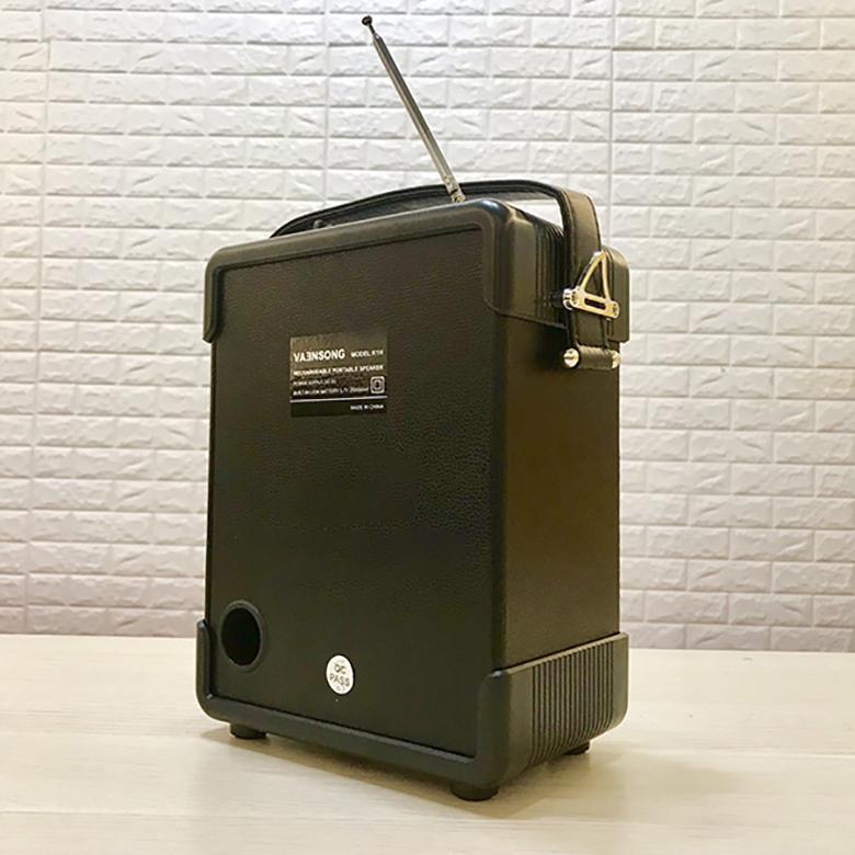 Loa kéo Bluetooth Vaensong K1H kèm micro và điều khiển mat sau loa keo bluetooth vaensong k1h den viendidong