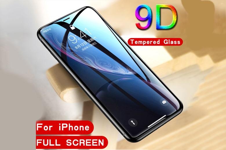 Miếng dán kính cường lực Full 9D iPhone Xs Max mieng dan kinh cuong luc full 9d iphone xs