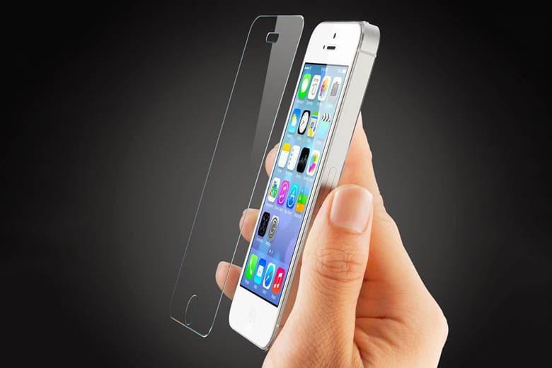 Miếng dán kính cường lực iPhone 5 | 5S mieng dan kinh cuong luc iphone 5 5s 1