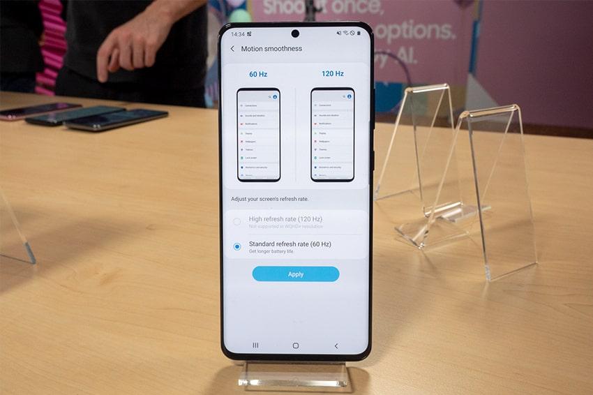 Nghịch lý: Ở độ phân giải màn hình QHD+ cao nhất, Galaxy S20 sẽ không hỗ trợ sử dụng các tính năng hấp dẫn