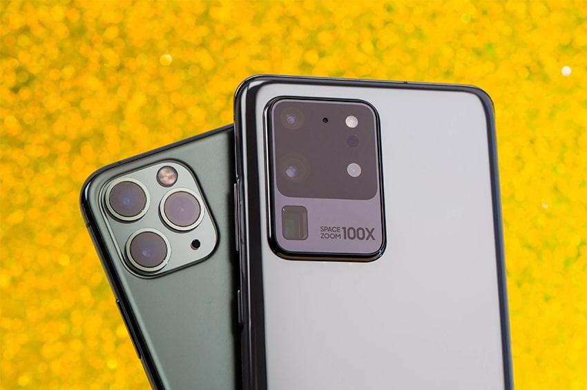 Galaxy S20 Ultra với iP 11 Pro Max