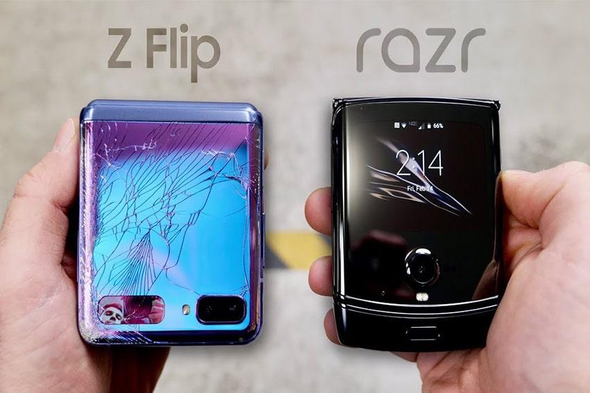 Galaxy Z Flip và Motorola Razr có chung số phận ở thử nghiệm đầu tiền