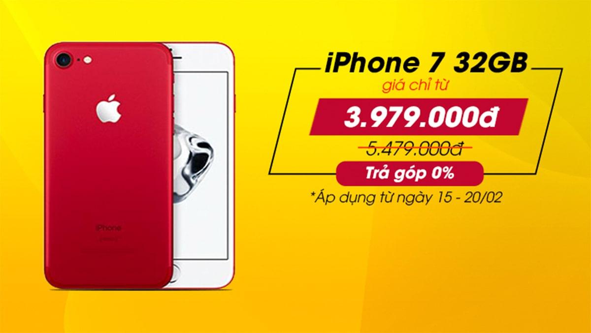 iPhone 7 32GB 'đại hạ giá' đến 1,5 triệu – Giờ chỉ còn từ 3,979 triệu