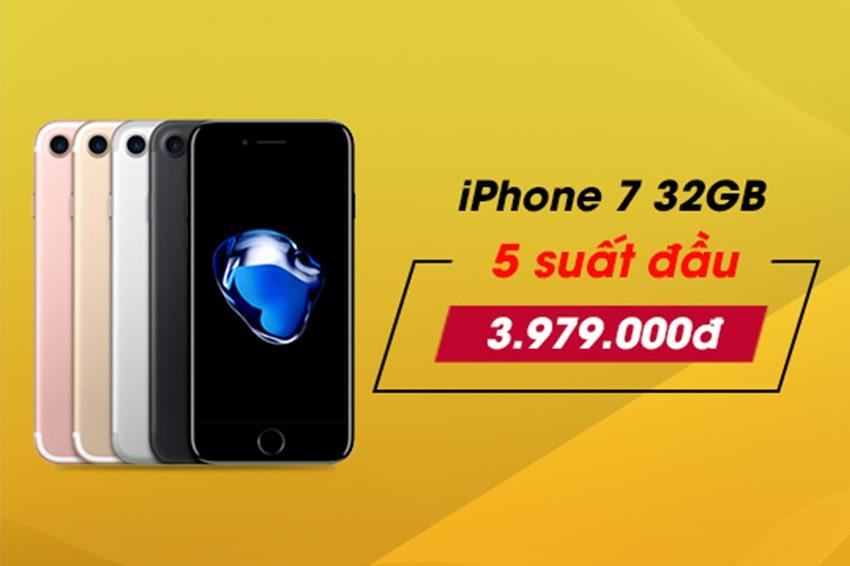 iPhone 7 32GB 'đại hạ giá' đến 1,5 triệu - Giờ chỉ còn từ 3,979 triệu