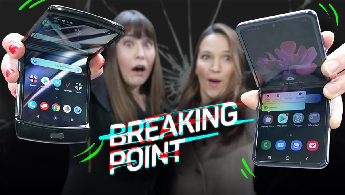 Thử thả rơi Galaxy Z Flip cùng Motorola Razr và cái kết