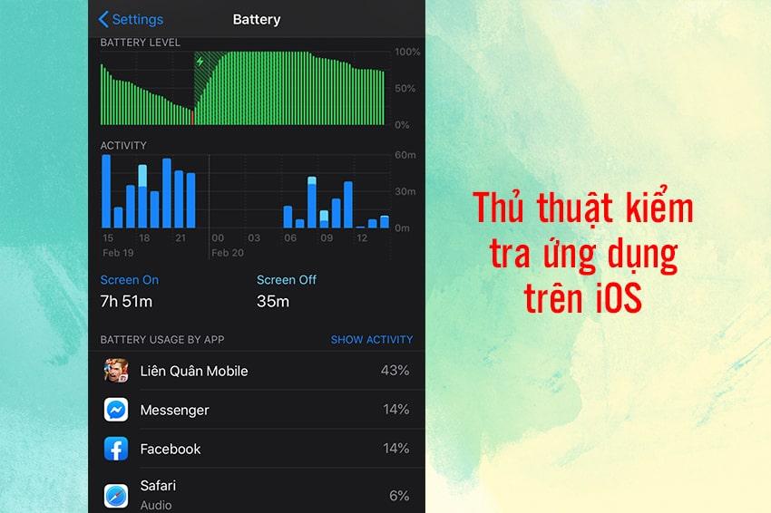 Thủ thuật kiểm tra ứng dụng được dùng nhiều nhất ở hệ điều hành iOS