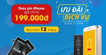 Tuần lễ vàng: Thay pin điện thoại tại VIỆN DI ĐỘNG, giá chỉ từ 199K
