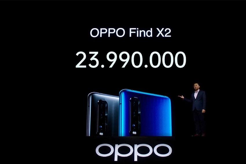 Giá bán OPPO Find X2 là 23.990.000 VNĐ