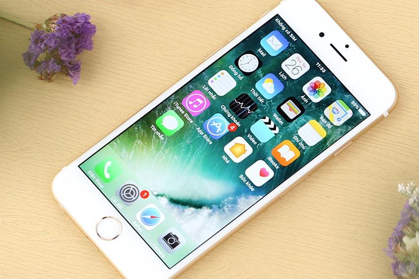 iPhone 6S 128GB Cũ Chính Hãng iphone 6s 128gb chinh hang quoc te likenew mau trang viendidong