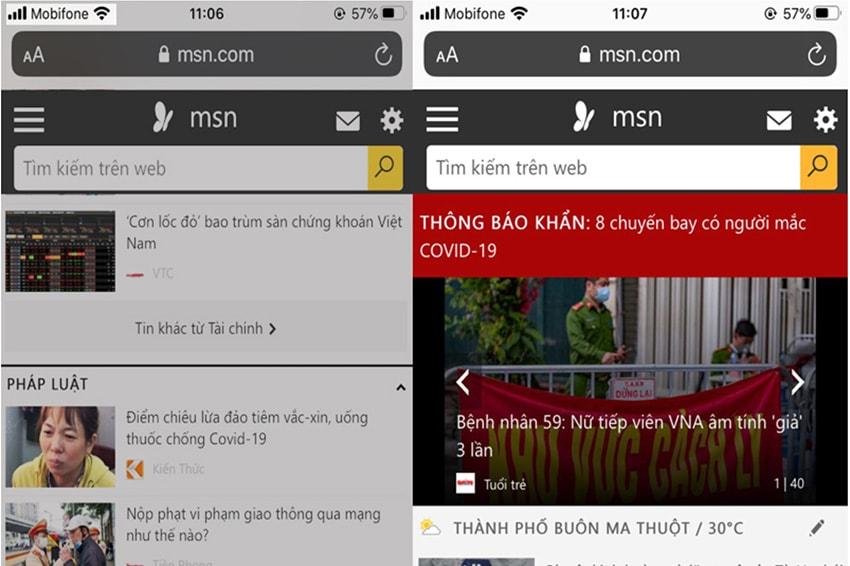 Tính năng Go To Top khi lướt Web trên iPhone