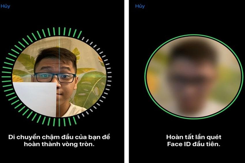Quét Face ID lần 1