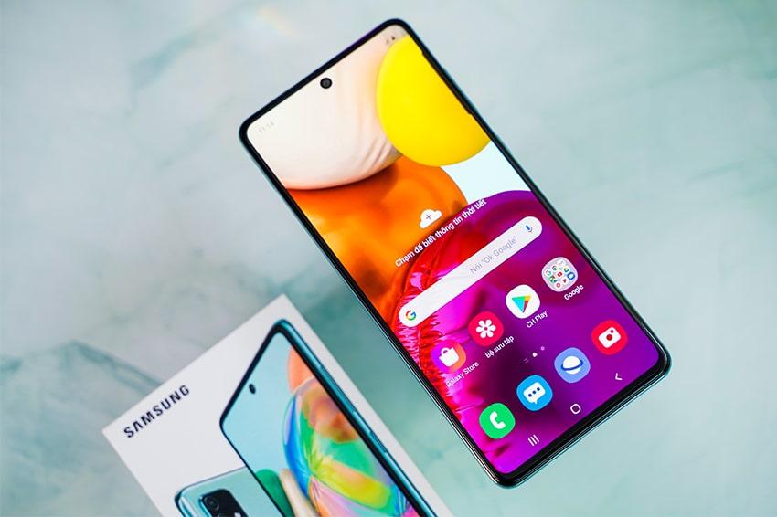Samsung Galaxy A71 (8GB 128GB) Chính Hãng samsung galaxy a71 man hinh viendidong