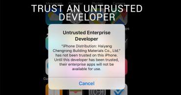Cách sửa lỗi Untrusted Developer trên iOS như thế nào?