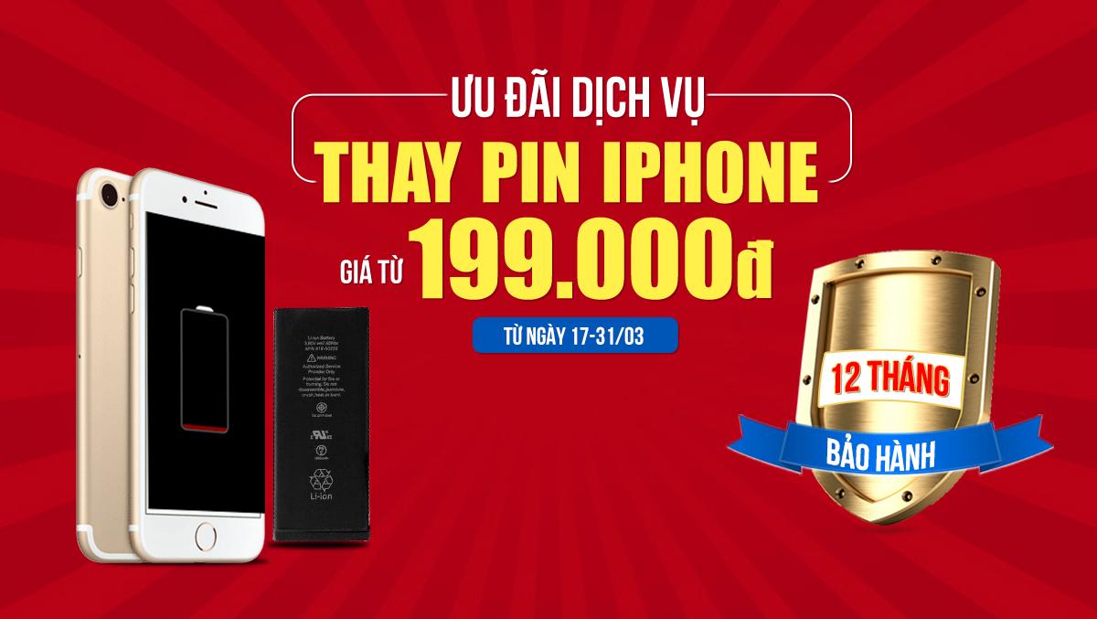Ưu đãi hấp dẫn khi thay pin cho iPhone tại Viện Di Động, giá chỉ từ 199k