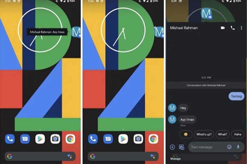 Tính năng bong bóng trò chuyện trên Android 11