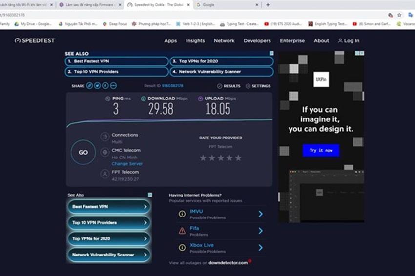 Tự kiểm tra tốc độ mạng Internet nhà mình với trang web Speedtest.net