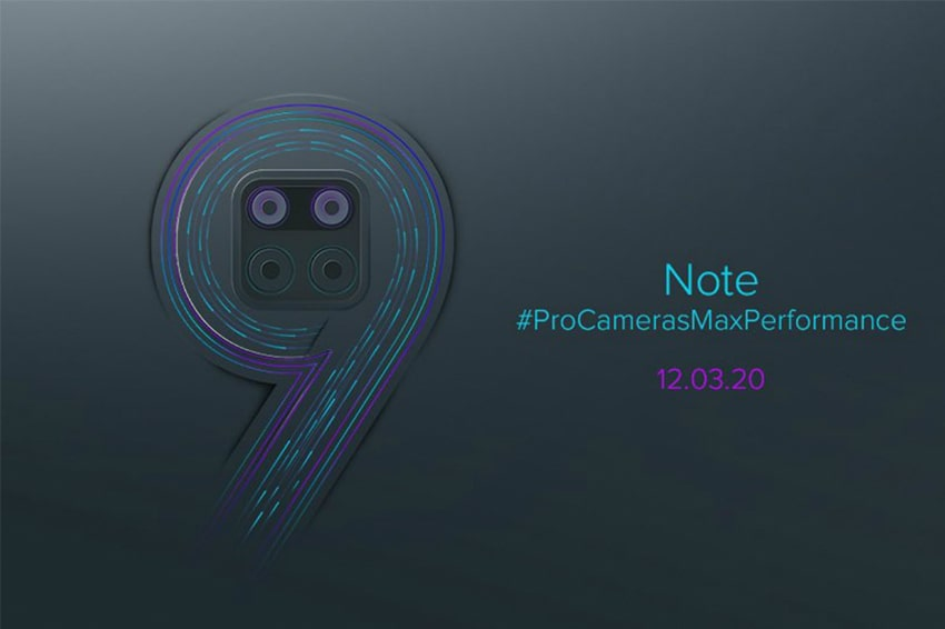 Xiaomi Redmi Note 9 lộ bản concept với màn hình đục lỗ, cụm 4 camera sau hình vuông?