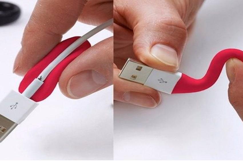 Bảo quản dây sạc điện thoại với keo Matit
