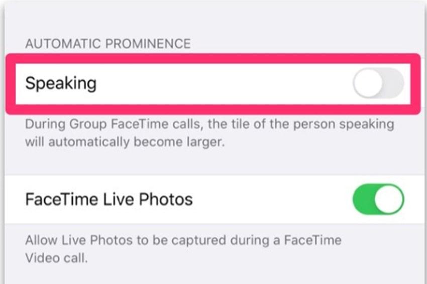 Bật tính năng Speaking trên iOS 13.5