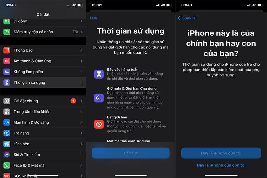 Bước 1 bảo mật app trên iPhone