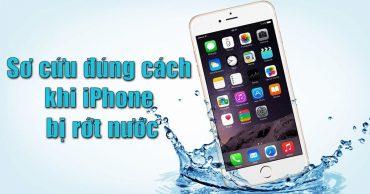 Cách cấp cứu iPhone bị vào nước